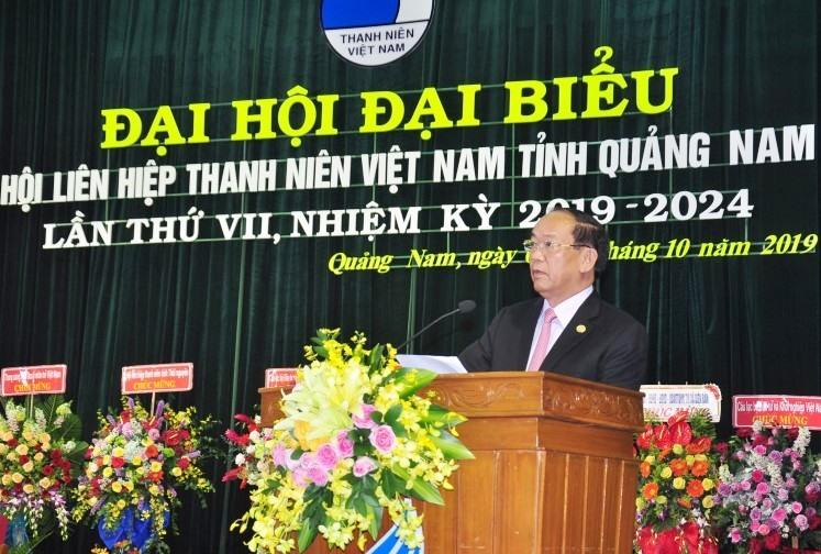 Phó Bí thư Tỉnh ủy, Chủ tịch UBND tỉnh Đinh Văn Thu phát biểu chỉ đạo đại hội. Ảnh: VINH ANH