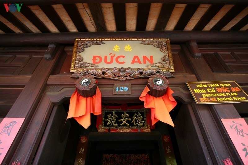 In the front of the house. The name Duc An means peace resulting from morality.
