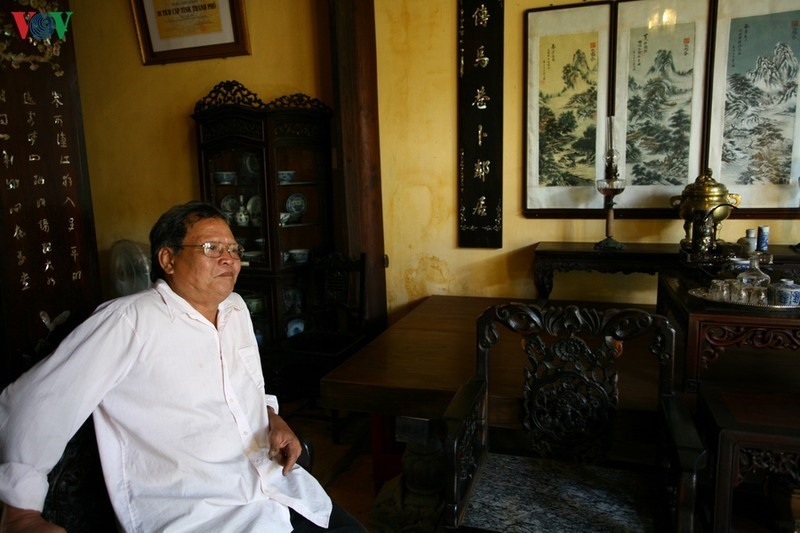 Mr Phan Ngoc Tram, owner of Duc An ancient house said the cultural values of the house are conserved well over time in spite of frequently natural disasters.