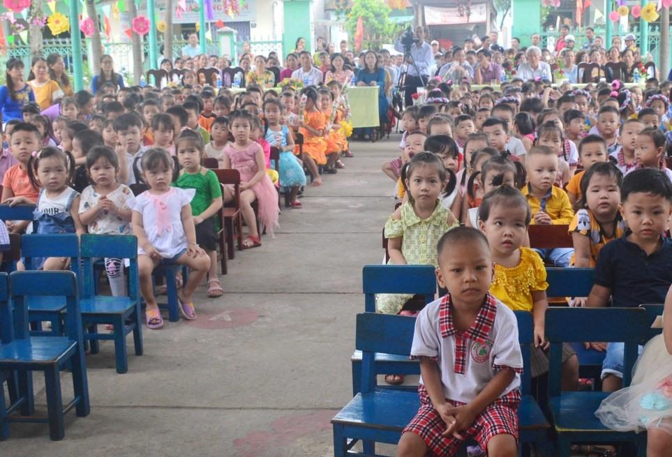 Đến nay 100% đơn vị cấp huyện trên cả nước đạt chuẩn phổ cập giáo dục mầm non cho trẻ 5 tuổi. Ảnh: Q.T