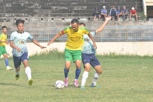 Thanh An (14) ghi 1 bàn thắng và góp công lớn vào chiến thắng 3-1 của đội Tam Kỳ. Ảnh: T.V
