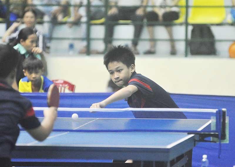 Đoàn Nguyễn Duy Khang (Tam Kỳ) vô địch nhóm tuổi dưới 11. Ảnh: A.S