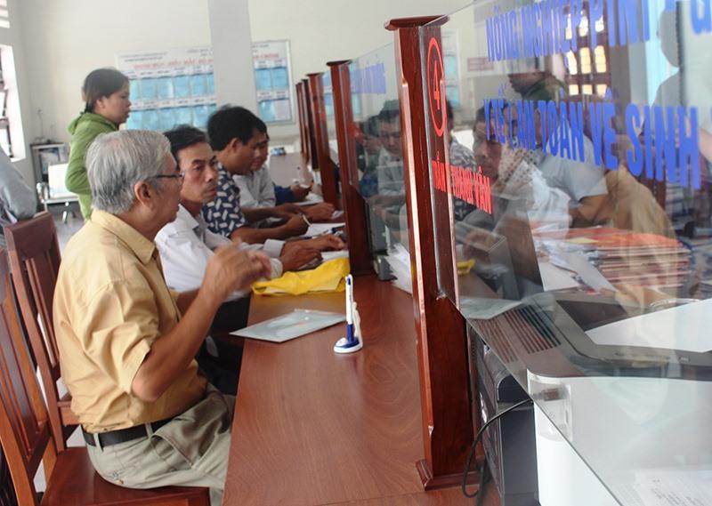 Trung tâm Hành chính công huyện Đại Lộc vừa đi vào hoạt động. Ảnh: HOÀNG LIÊN