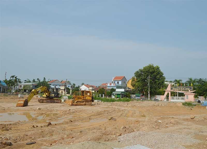 Công viên Dinh trấn Thanh Chiêm được xây dựng trên khu đất rộng 1,85ha. Ảnh:V.LỘC