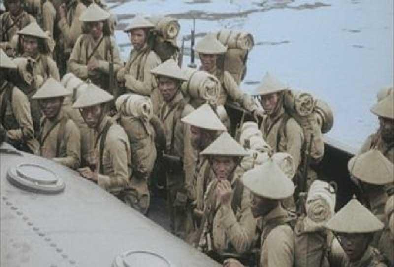 Lính mộ người Việt đến Pháp trong thế chiến thứ nhất. Ảnh: Internet