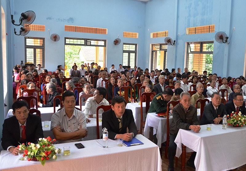 Quang cảnh Lễ kỷ niệm 70 năm thành lập Đảng bộ xã Tiên Mỹ. Ảnh: N.HƯNG