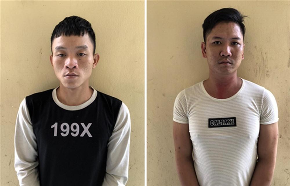 Đối tượng Nguyễn Hùng (trái) và Huỳnh Kim Luân. Ảnh: Công an cung cấp