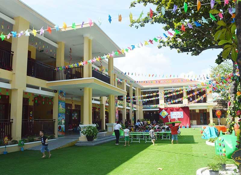 Trường Mẫu giáo Măng Non được di dời về vị trí mới khang trang. Ảnh: V.LỘC