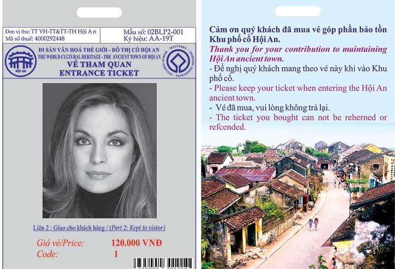 Hoi An ancient town entrance ticket. Photo: enternews