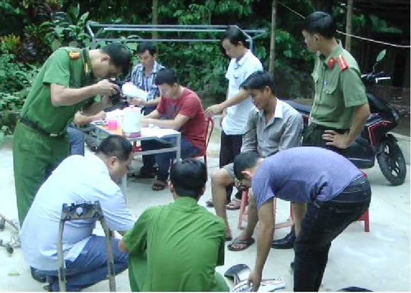 Điều tra, làm rõ vụ trộm cắp xe máy ở Tiên Kỳ. (Ảnh: CA Tiên Phước cung cấp)