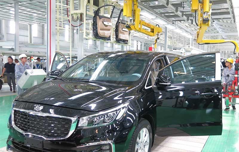 Nhà máy Kia ô tô, một trong những kết quả hợp tác kinh tế giữa Quảng Nam và doanh nghiệp Hàn Quốc. Ảnh: T.DŨNG