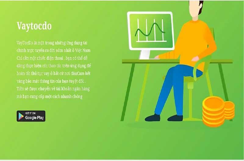 """Mẫu quảng cáo của ứng dụng """"vaytocdo"""", một trong ba ứng dụng được Bộ Công an điểm tên về hoạt động """"tín dụng đen"""" trực tuyến."""