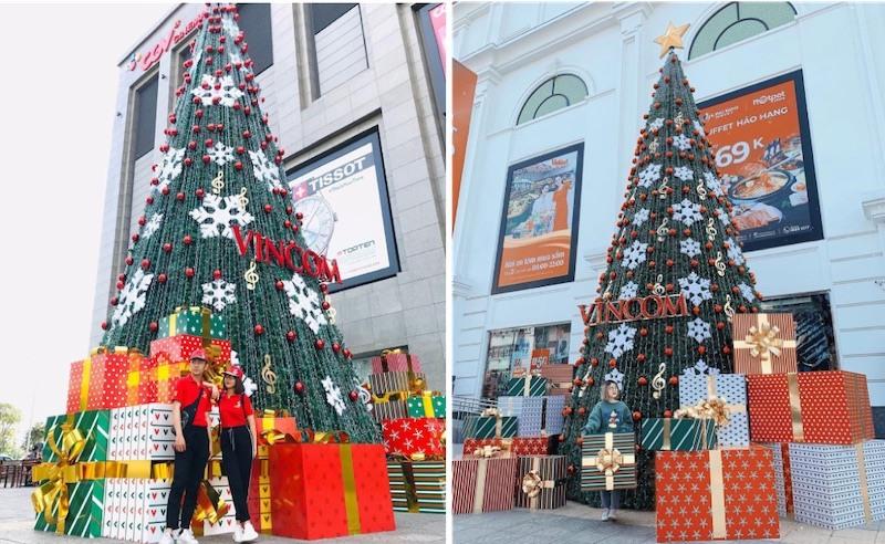 Khách hàng nô nức chia sẻ hình ảnh trên instagram check in cùng cây thông Noel tại các TTTM Vincom trên khắp 40 tỉnh thành trên cả nước (Nguồn: ng.cc2k, _niheo)