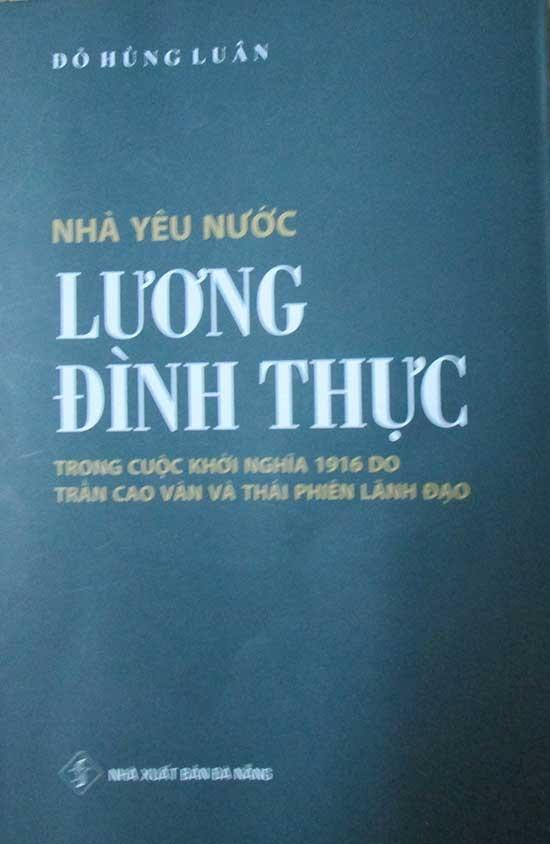 Bìa cuốn sách công bố những tư liệu mới về Mộ chí sĩ Lương Đình Thực.