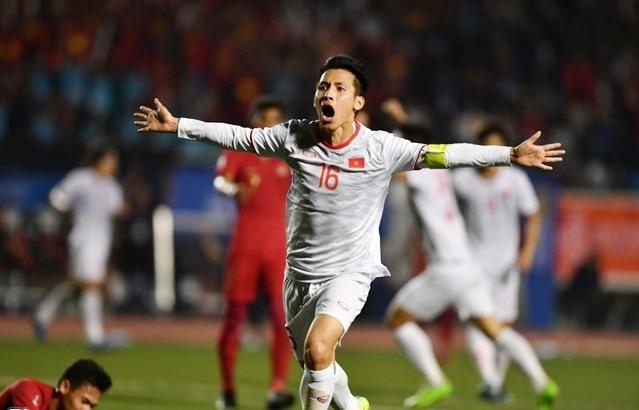 Hùng Dũng nâng tỷ số lên 2-0 cho đội tuyển U22 Việt Nam. Ảnh: Internet