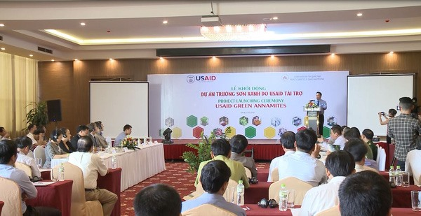 The Green Annamites project was launched in Quang Nam in March 2018. Photo: VTV