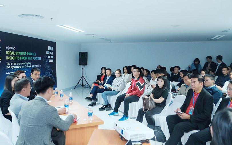 """Quang cảnh hội thảo """"Ideal Startup Profile với tiêu chí lựa chọn doanh nghiệp khởi nghiệp sáng tạo từ chuyên gia, nhà đầu tư"""". Ảnh: P.V"""