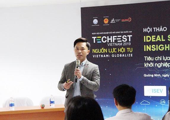 Ông Nguyễn Việt An chia sẻ cơ chế hỗ trợ tài chính trực tiếp cho startup từ Đề án 844. Ảnh: P.V