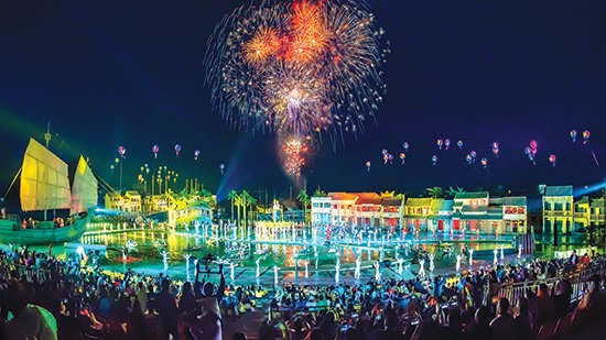 Hoi An Memories show is a new tourism product launched in 2018, attracting international visitors.