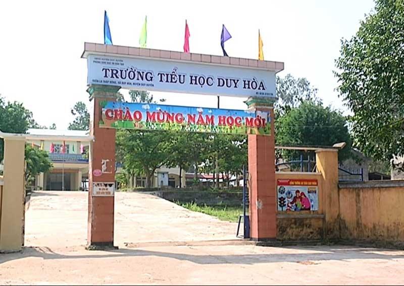 Trường Tiểu học Duy Hòa thành lập trên cơ sở sáp nhập 2 trường tiểu học ở xã Duy Hòa. Ảnh: L.P.L.N