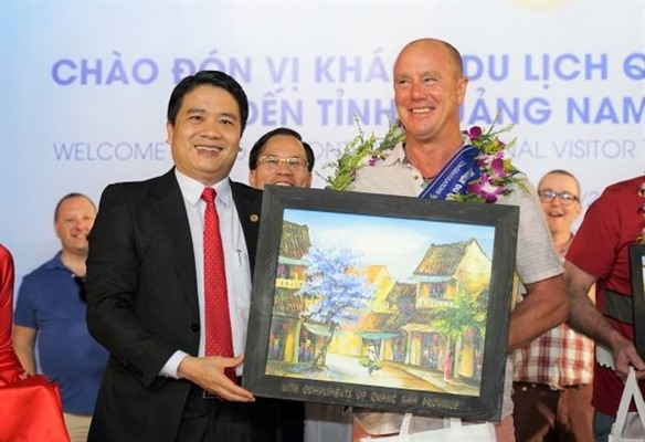 Welcome to the 4.6 millionth foreign visitor to Quang Nam