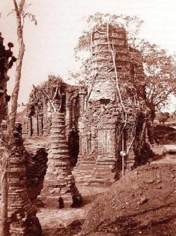 Một góc Phật viện Đồng Dương ngày trước. Ảnh: V.N