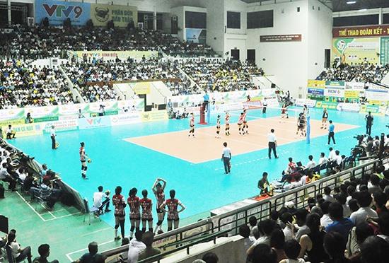 Lần thứ hai Quảng Nam đăng cai tổ chức một giải bóng chuyền nữ tầm quốc tế (ảnh: giải Bóng chuyền nữ quốc tế cúp VTV9 Bình Điền). Ảnh: T.V