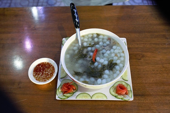 A dish of cuttlefish eggs.