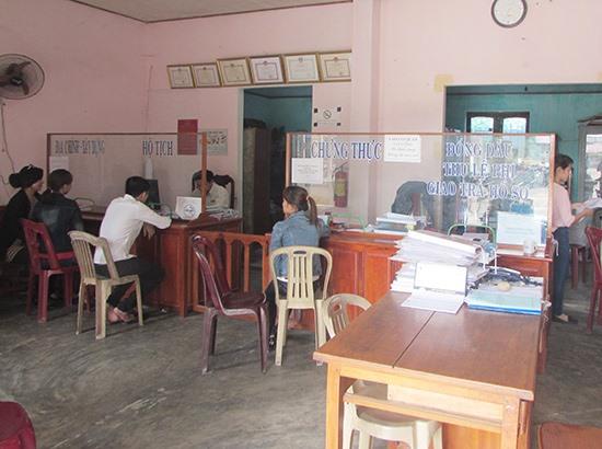Huyện Núi Thành đang tích cực thực hiện văn hóa công vụ. Ảnh: VĂN PHIN