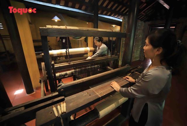 Silk weaving skill.