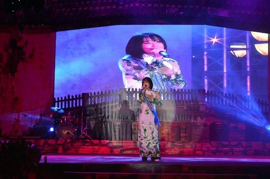 Đại sứ thiện chí du lịch Ueno Yuka (Nhật Bản) trình diễn tại lễ bế mạc.