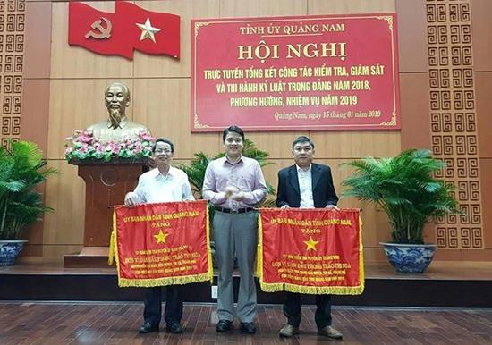 Huyện ủy Thăng Bình được lãnh đạo tỉnh tặng cờ thi đua đơn vị dẫn đầu phong trào thi đua ngành kiểm tra Đảng các huyện, thị, thành ủy cụm đồng bằng năm 2018.