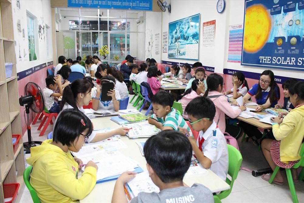 Seven English là trung tâm thuộc quyền quản lý của Hệ thống Anh ngữ quốc tế AMA Việt Nam. Ảnh: P.V