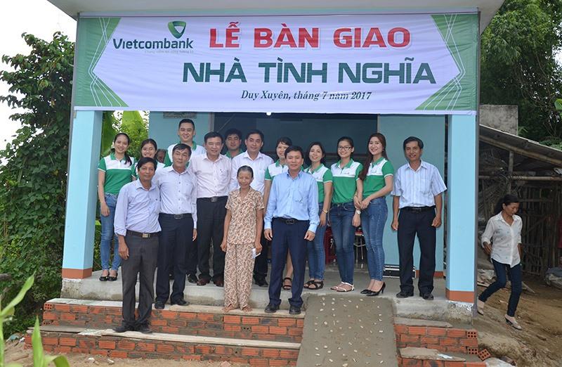 Vietcombank Quảng Nam đã có nhiều hoạt động về an sinh xã hội trong nhiều năm qua. Ảnh: X.H