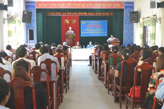 CĐCS trường học ở Đại Lộc góp phần thực hiện tốt nhiệm vụ năm học 2018 - 2019. Ảnh: C.T