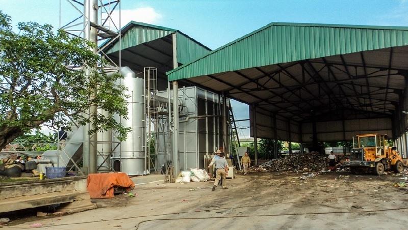 Quang cảnh một nhà máy đốt rác sử dụng công nghệ Vinabima.