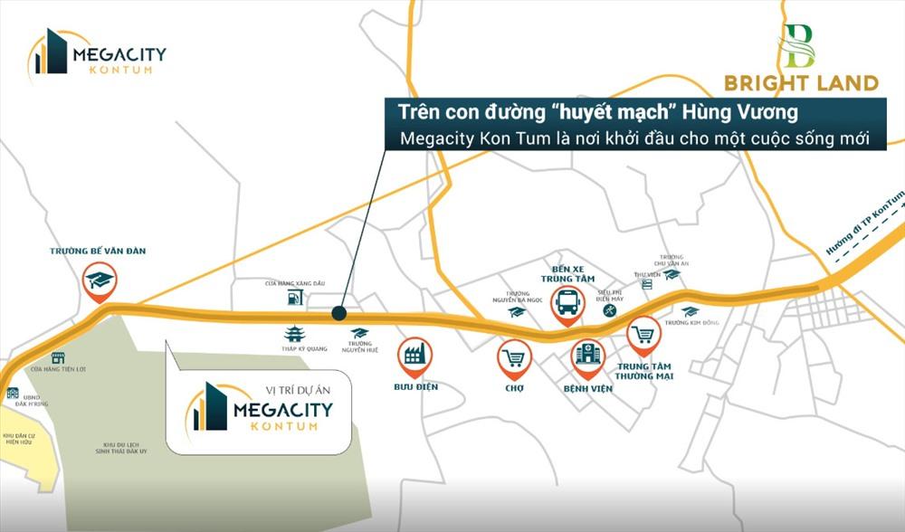 Vị trí trung tâm thuận lợi của Megacity Kon Tum.