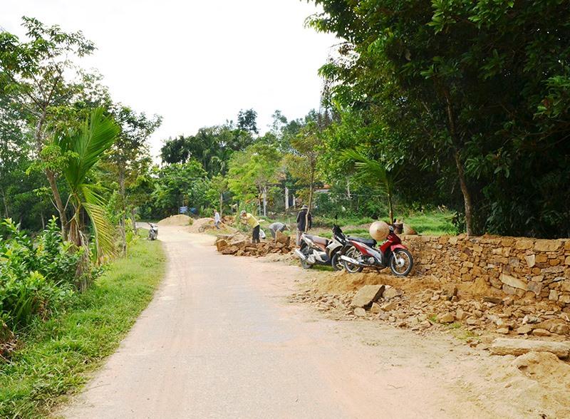 Người dân Lộc Yên chỉnh trang vườn nhà theo hướng xanh, sạch, đẹp, hiệu quả. Ảnh: N.H