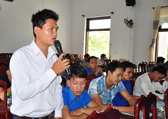 Phú Ninh tổ chức nhiều diễn đàn đối thoại để định hướng phong trào khởi nghiệp. Ảnh: P.V