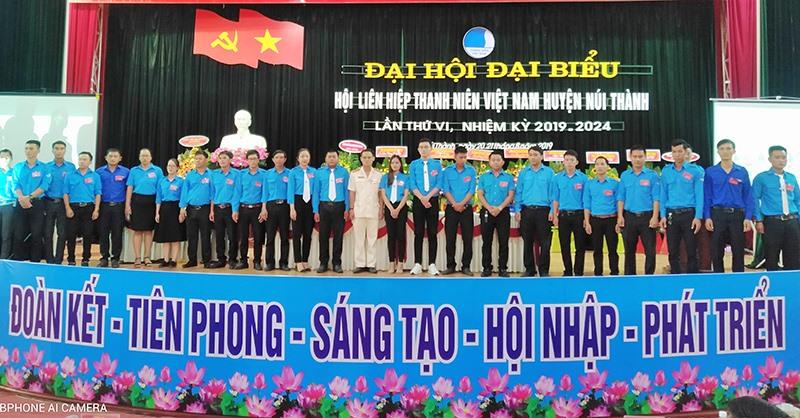 Ủy ban Hội khóa mới ra mắt tại Đại Hội đại biểu Hội LHTN Việt Nam huyện Núi Thành.