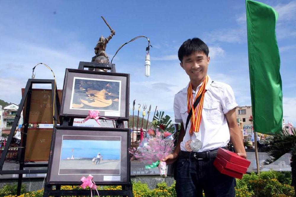 NSNA Lê Trọng Khang - hội viên trẻ nhất của Chi hội NSNA Việt Nam tại Quảng Nam và cũng là một trong những người có nhiều thành tích nhất hiện nay (ảnh tác giả cung cấp).