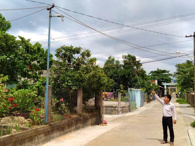 Camera được lắp đặt ven một tuyến đường ở Điện Thọ. Ảnh: P.L