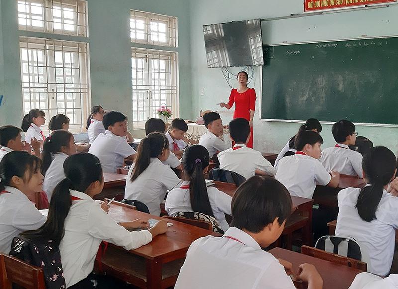 Thời gian qua, huyện Duy Xuyên chú trọng thực hiện nhiều khâu nhằm nâng cao chất lượng giáo dục. Ảnh: T.P