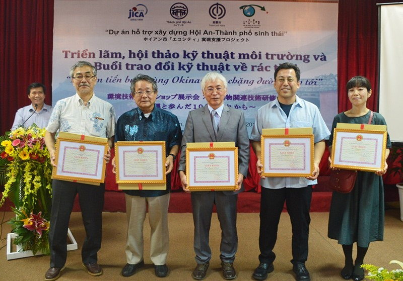 Individuals and orgnisations are honoured for their important contributions to Hoi An.