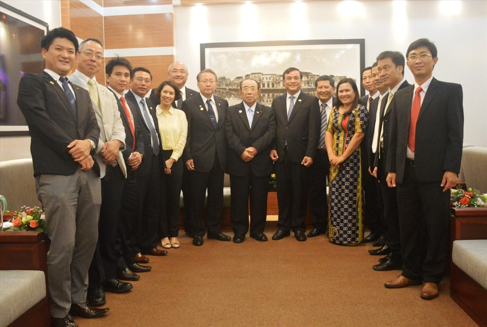 The delegation from Nagasaki and Quang Nam