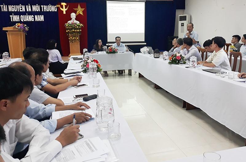Quảng cảnh hội nghị giữa kỳ của Ban điều phối quản lý lưu vực sông Vu Gia - Thu Bồn diễn ra tại Quảng Nam ngày 27.8