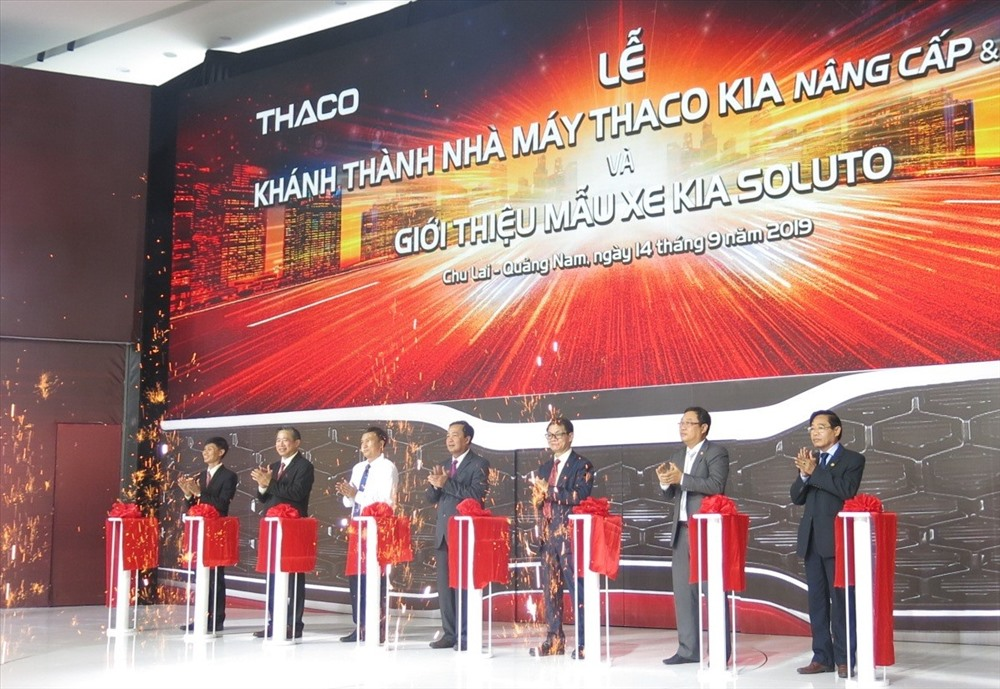The inauguration ceremony of the upgraded and expanded Thaco Kia factory.