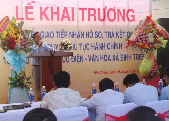 Ông Võ Văn Thơ - Phó Giám đốc Sở TT&TT phát biểu tại lễ ký kết. Ảnh: HOÀNG LIÊN