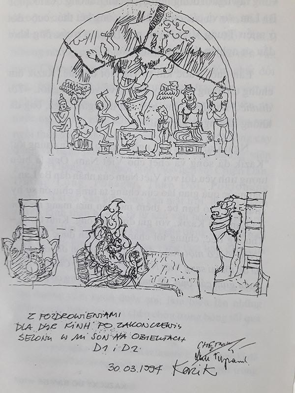 Những ký họa về Mỹ Sơn của Kazik.