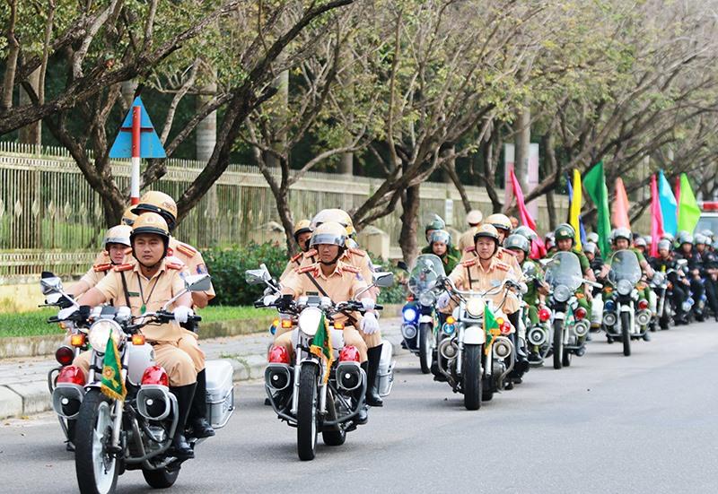 Với kinh nghiệm tham gia bảo đảm an ninh nhiều sự kiện quan trọng, Công an Quảng Nam đã huy động lực lượng, chuẩn bị kỹ lưỡng để đảm bảo an ninh cho sự kiện lần này. Ảnh: T.C